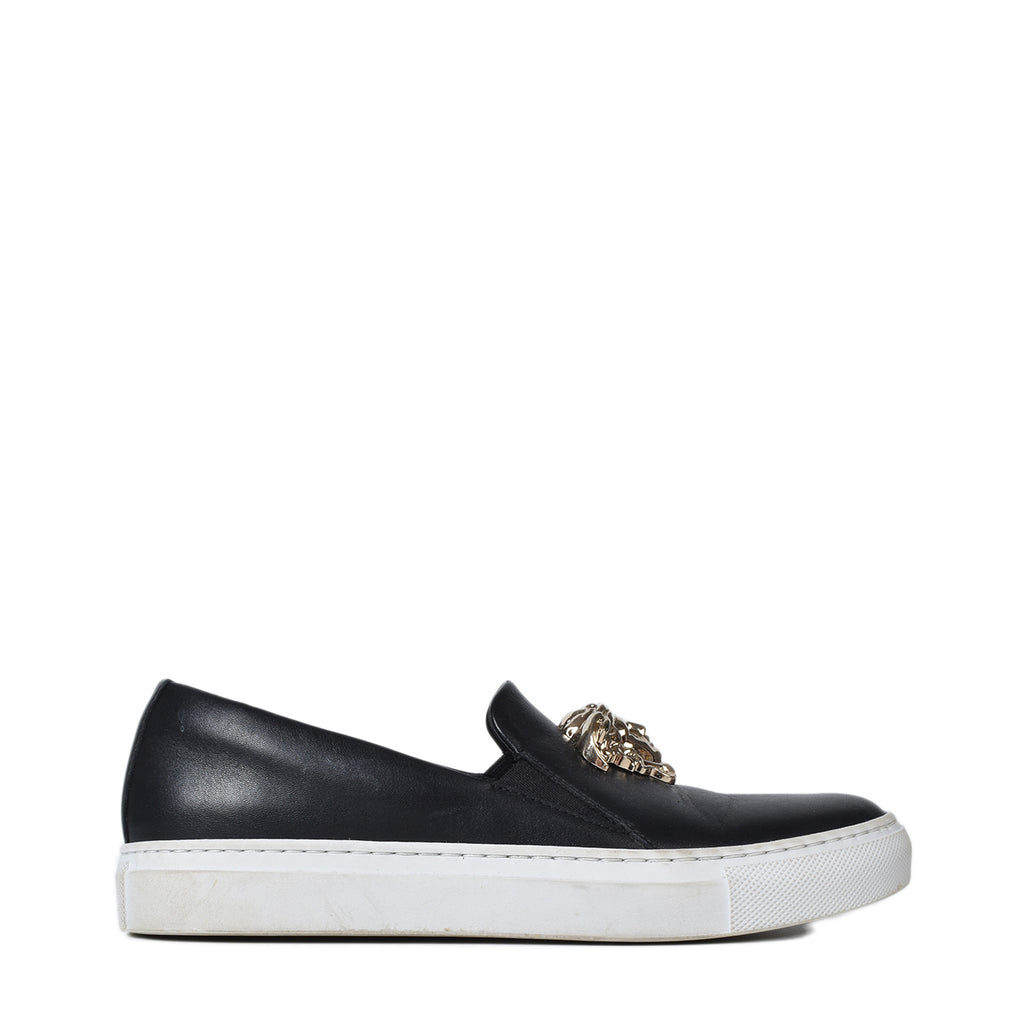 Versace Medusa Head Slip On Sneakers in Black