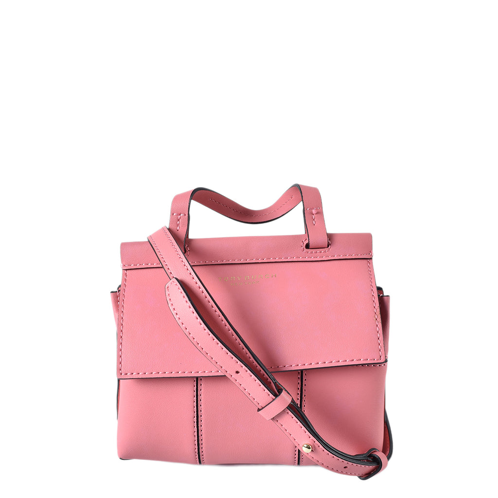 Tory Burch Block T Mini Satchel in Pink
