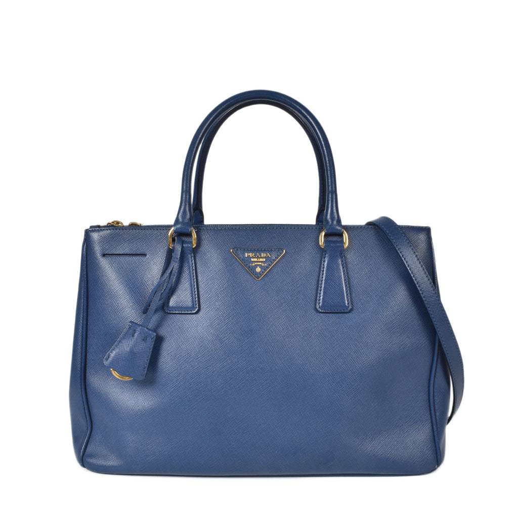 Prada BN2274 Saffiano Lux Leather Tote Bag Bluette