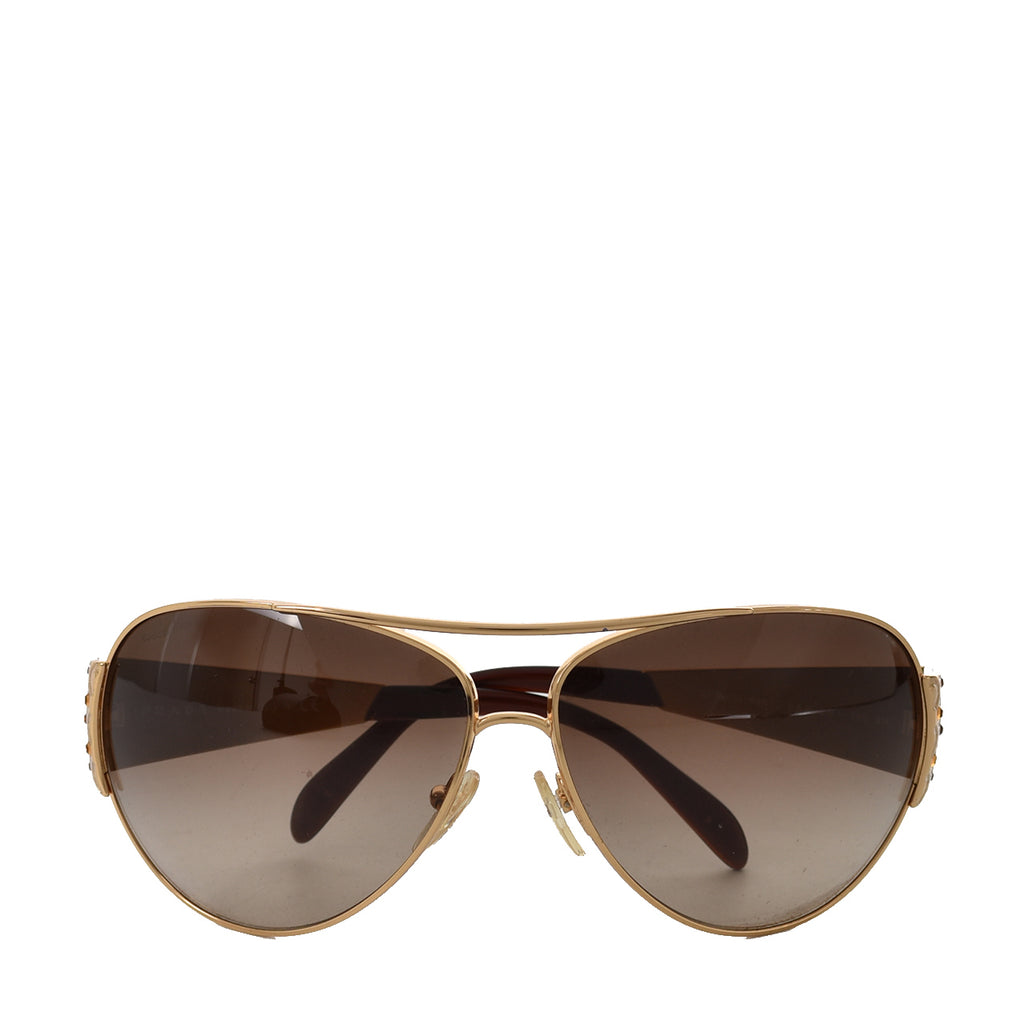 Prada 5AK-6S1 Gold Sunglasses