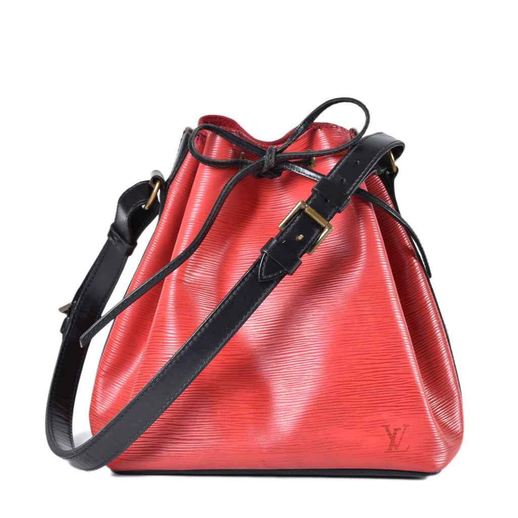 Louis Vuitton Red Epi Noe Bucket Bag
