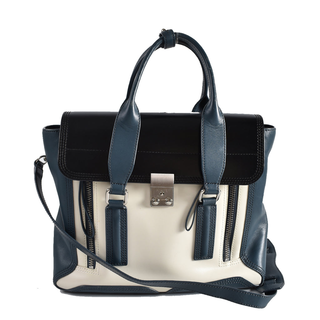 3.1 Phillip Lim Tri-Color Smooth Leather Medium Pashli Satchel Bag AH13-0179BXC