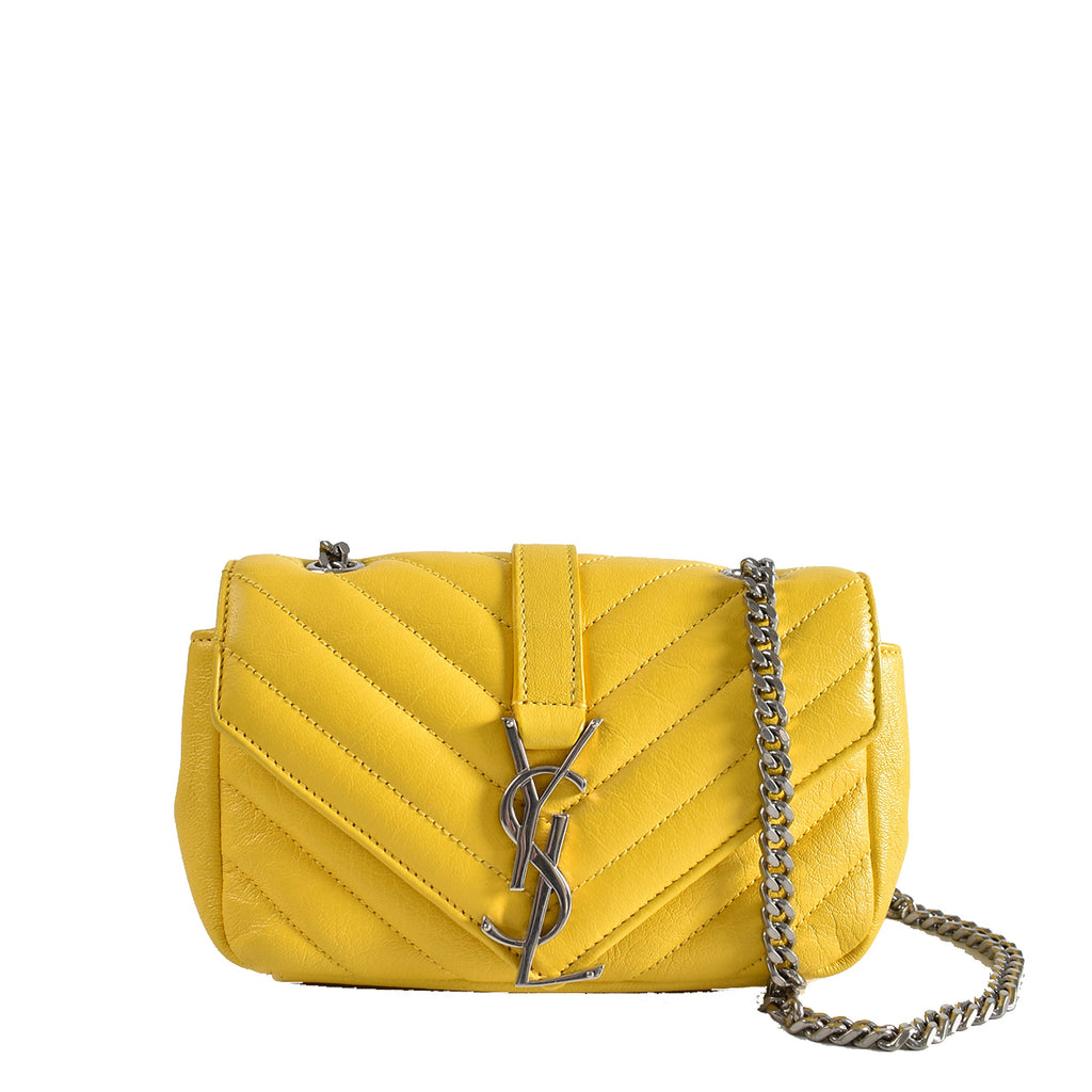 Saint Laurent Classic Baby Monogram Chain Bag in Yellow DMR399289 0615