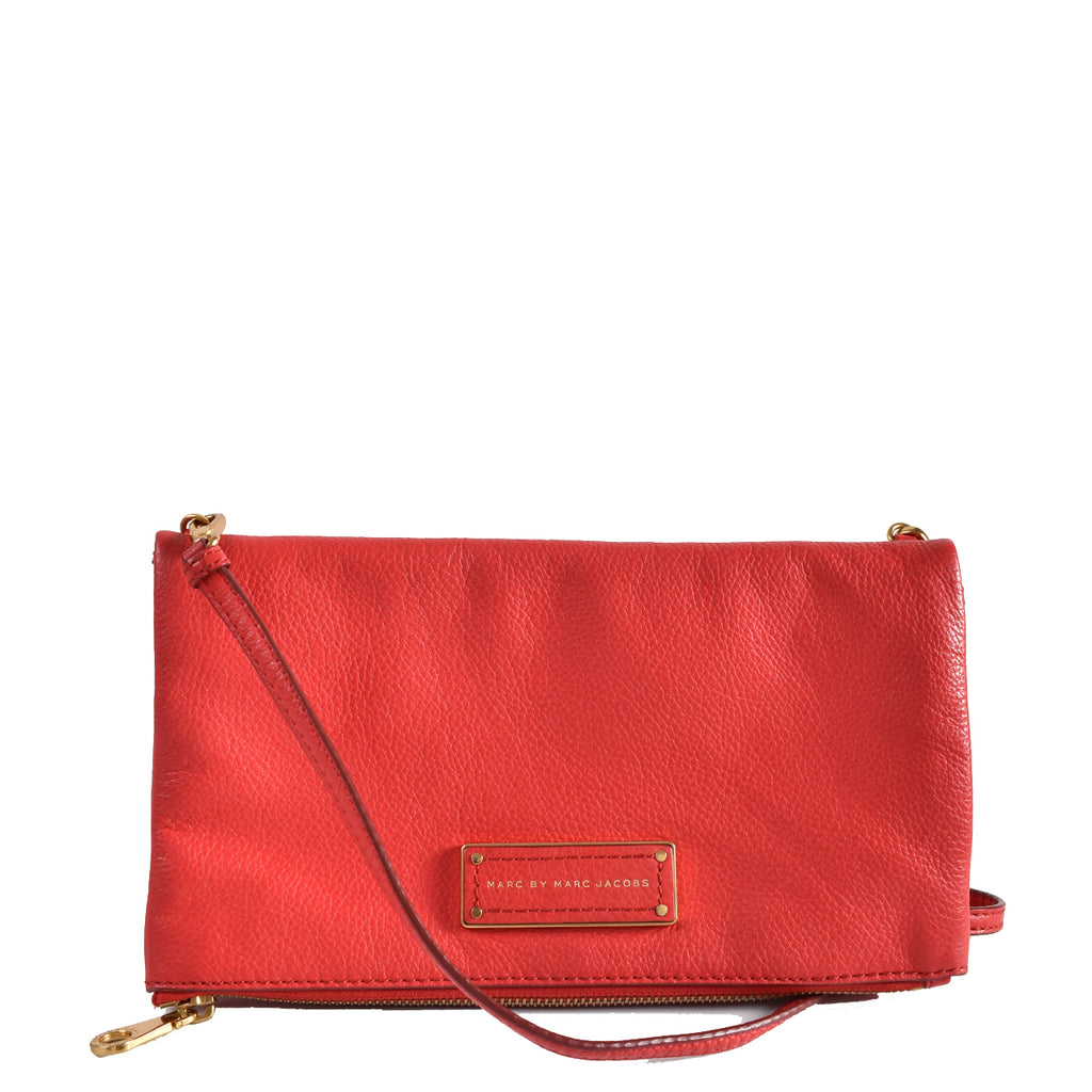 Marc By Marc Jacobs Red Leather Crossbody Clutch