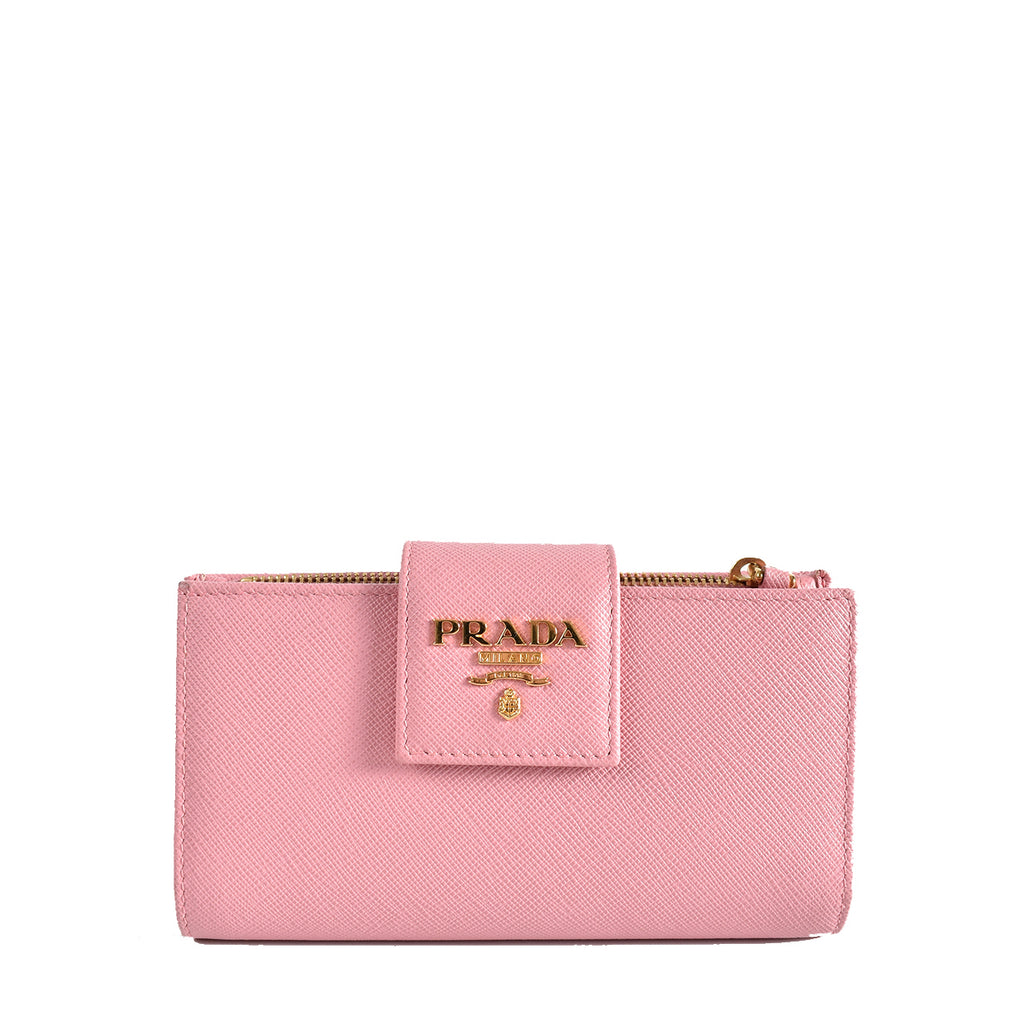 Prada 1ML005 Petalo Saffiano Leather Medium Wallet