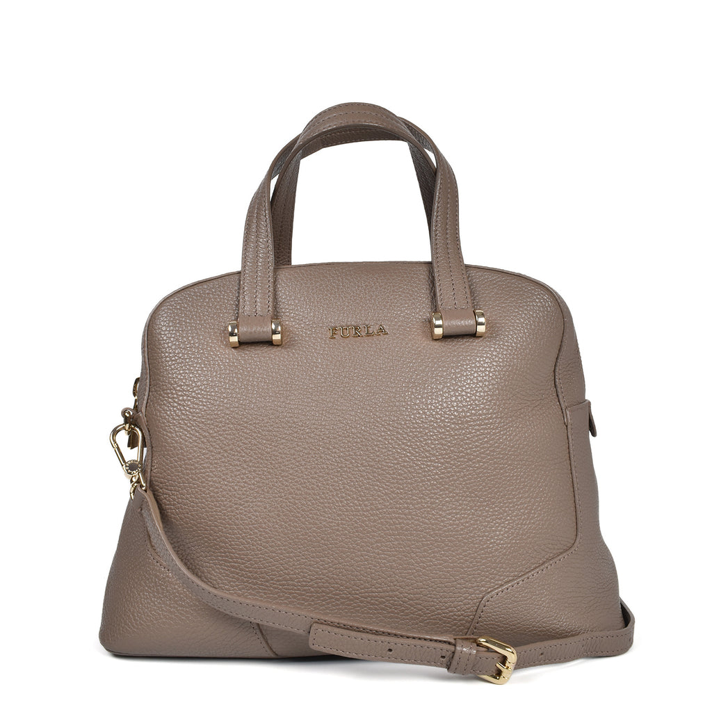 Furla Grey Small Tote with Strap