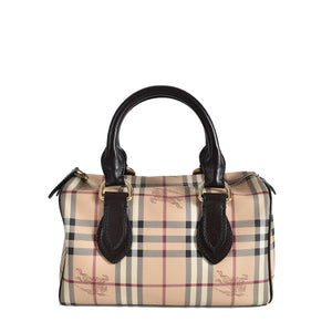 Burberry Haymarket Check Coated Canvas Bowling Bag
