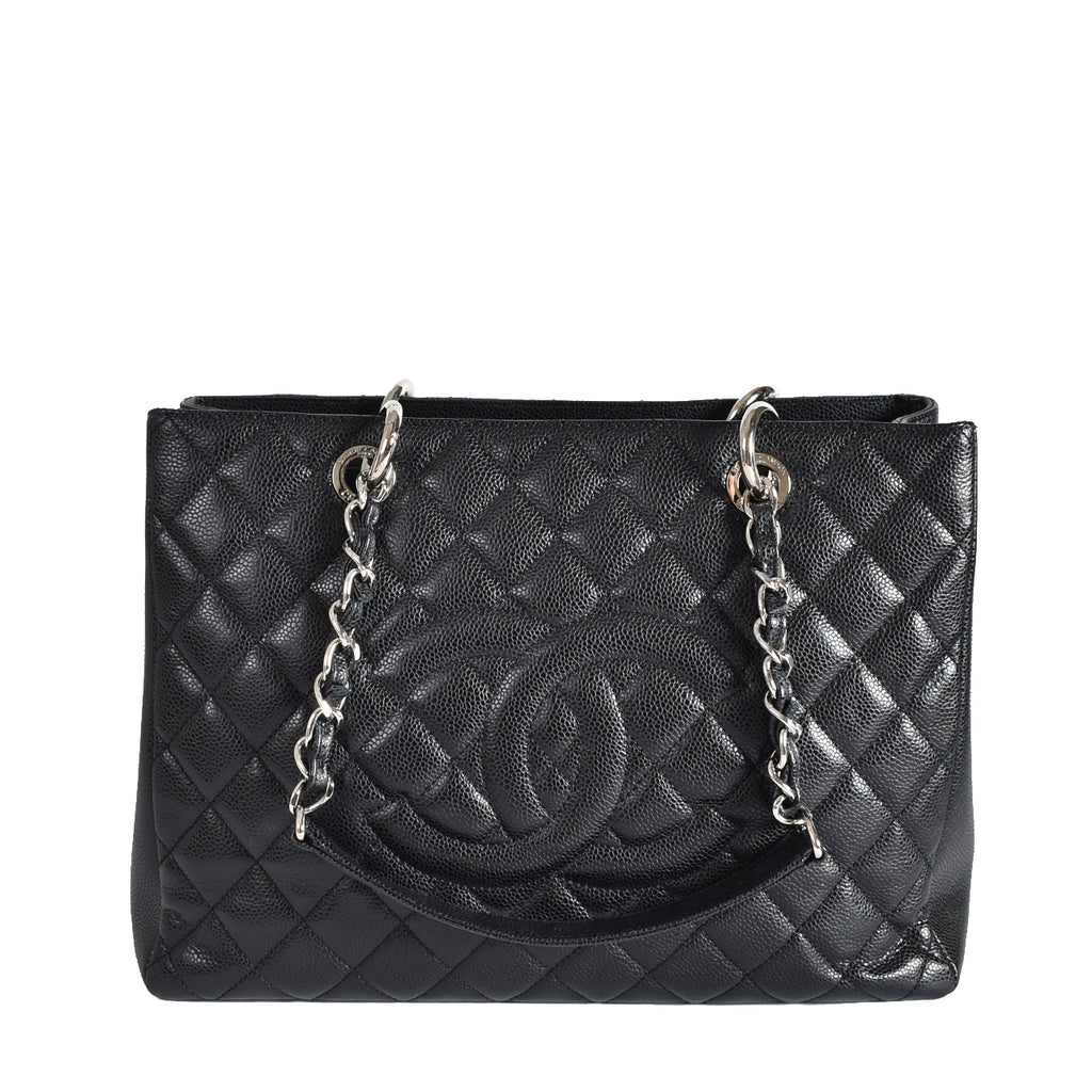 Chanel GST in Black Caviar Leather SHW 19035232