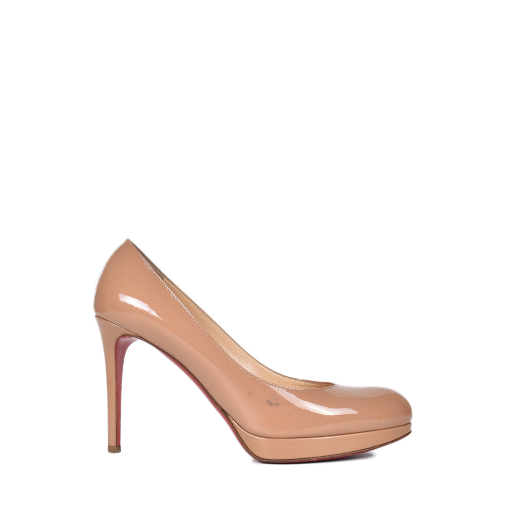 Christian Louboutin Patent Nude Color Heels