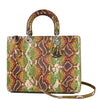 Christian Dior Lady Dior Large Multicolor Python Limited Edition Bag