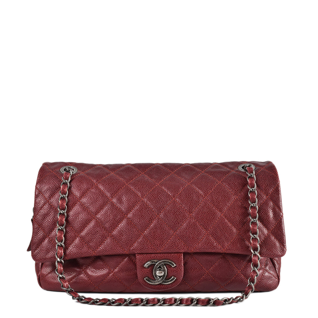 Chanel Red Caviar Shoulder Seasonal Bag 2012 SHW