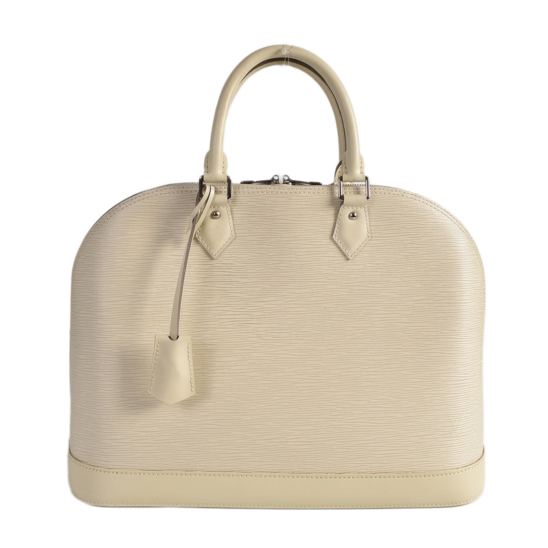 Louis Vuitton Alma GM Bag in Ivory Epi Leather