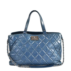 Chanel 2011 Seasonal Tote Calf Leather in Blue RHW