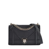 Christian Dior Black Calf Skin Diorama Medium Flap Bag