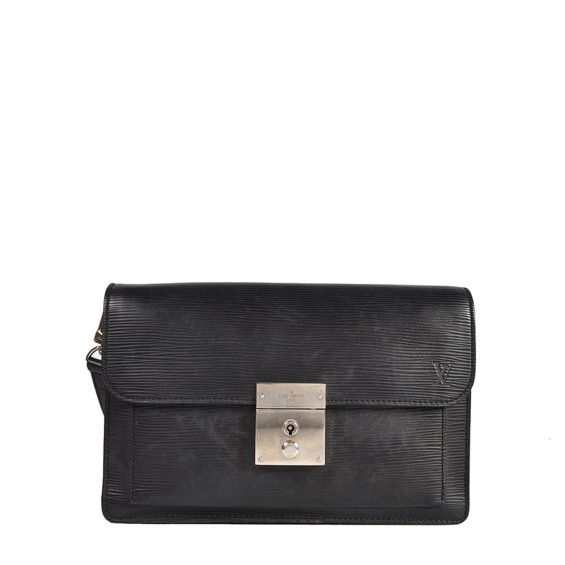 Louis Vuitton Epi Leather Clutch in Black