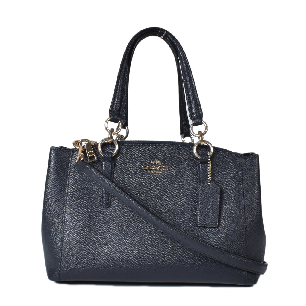 Coach Crossgrain Mini Christie Carryall Leather Satchel in Black