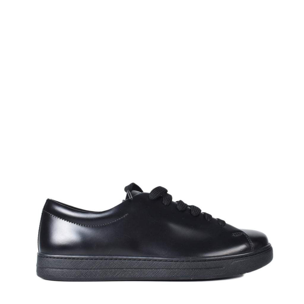 Prada Men's Black Leather Sneakers