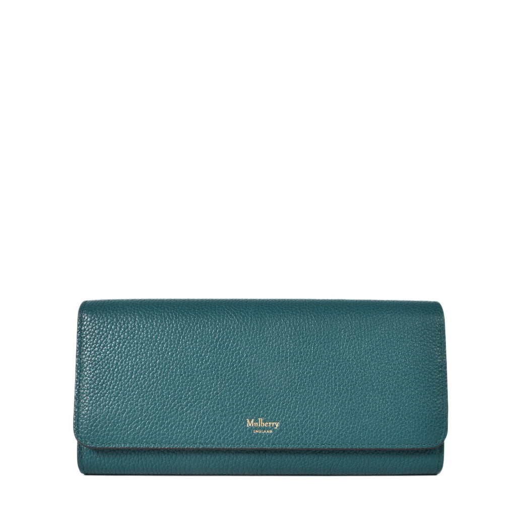 Mulberry Green Long Flap Continental Wallet