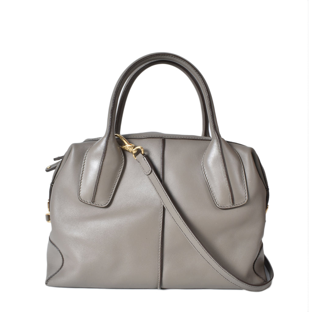 Tod's D-Styling Bauletto Bag in Dove Grey