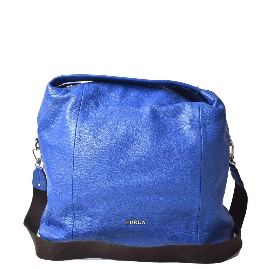 Furla Blue Hobo Bag