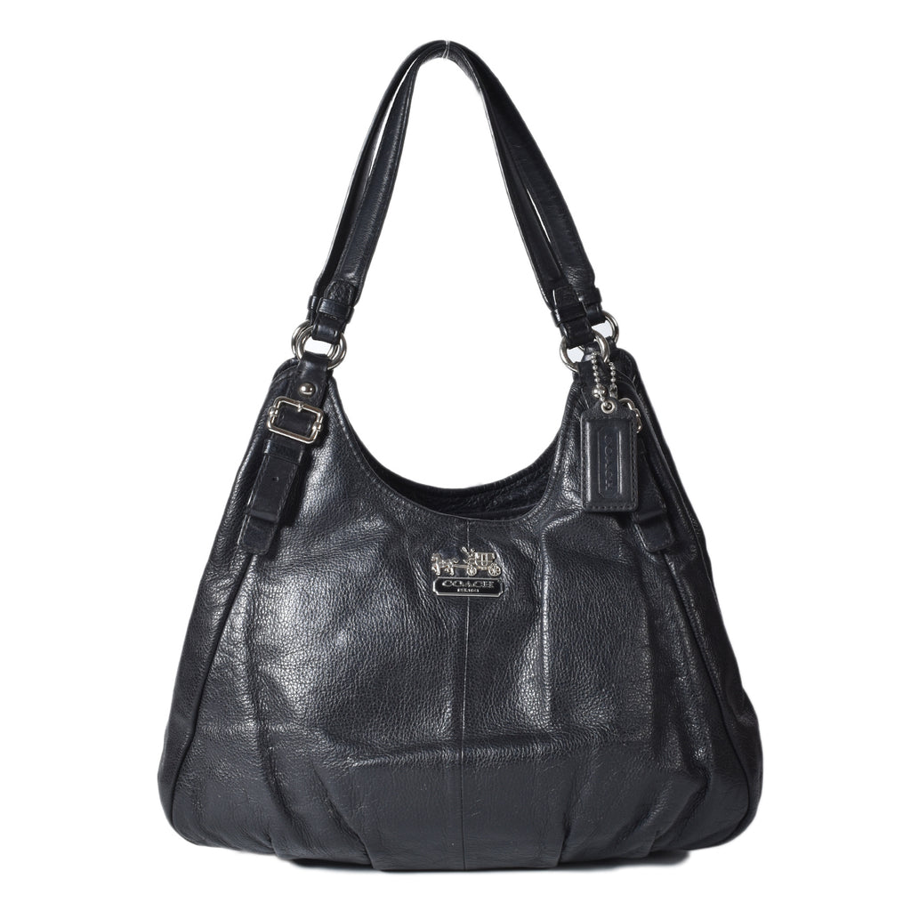 Coach Madison Maggie Leather Black Shoulder Bag