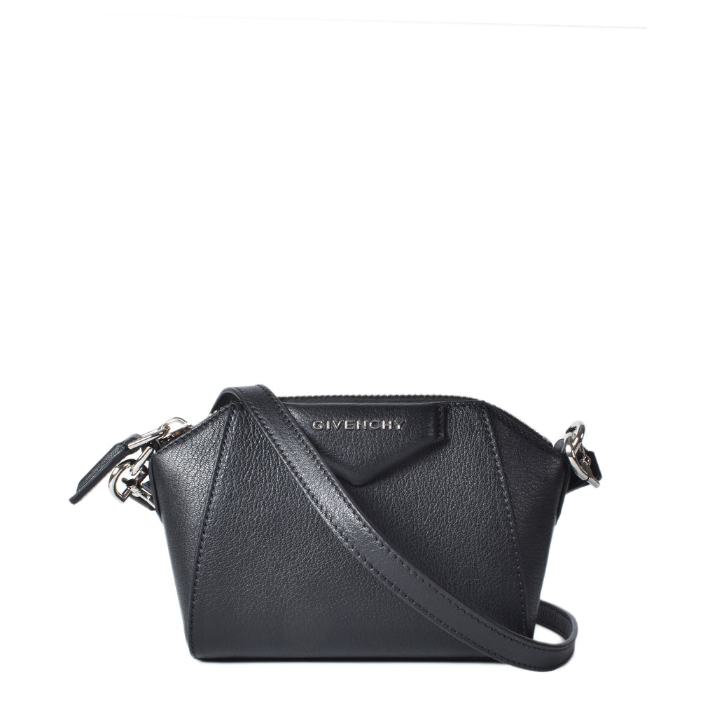 Givenchy Nano Antigona Crossbody Bag Goatskin Black KU-D-0210