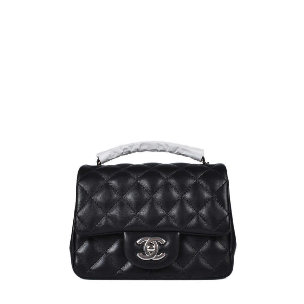 Chanel A35200 Mini Square Lambskin Flap Bag SHW