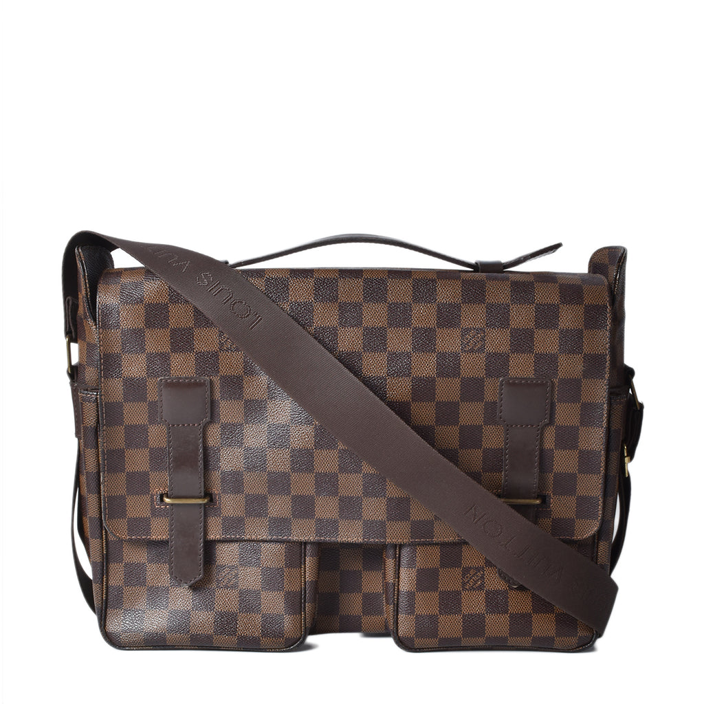 Louis Vuitton Broadway Damier Ebene Brown Canvas Messenger Bag