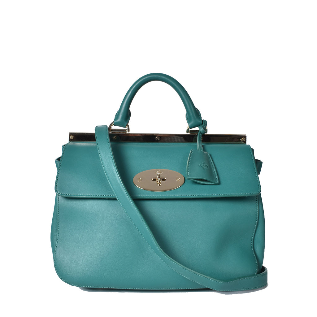 Mulberry Green Suffolk Classic Leather Bag
