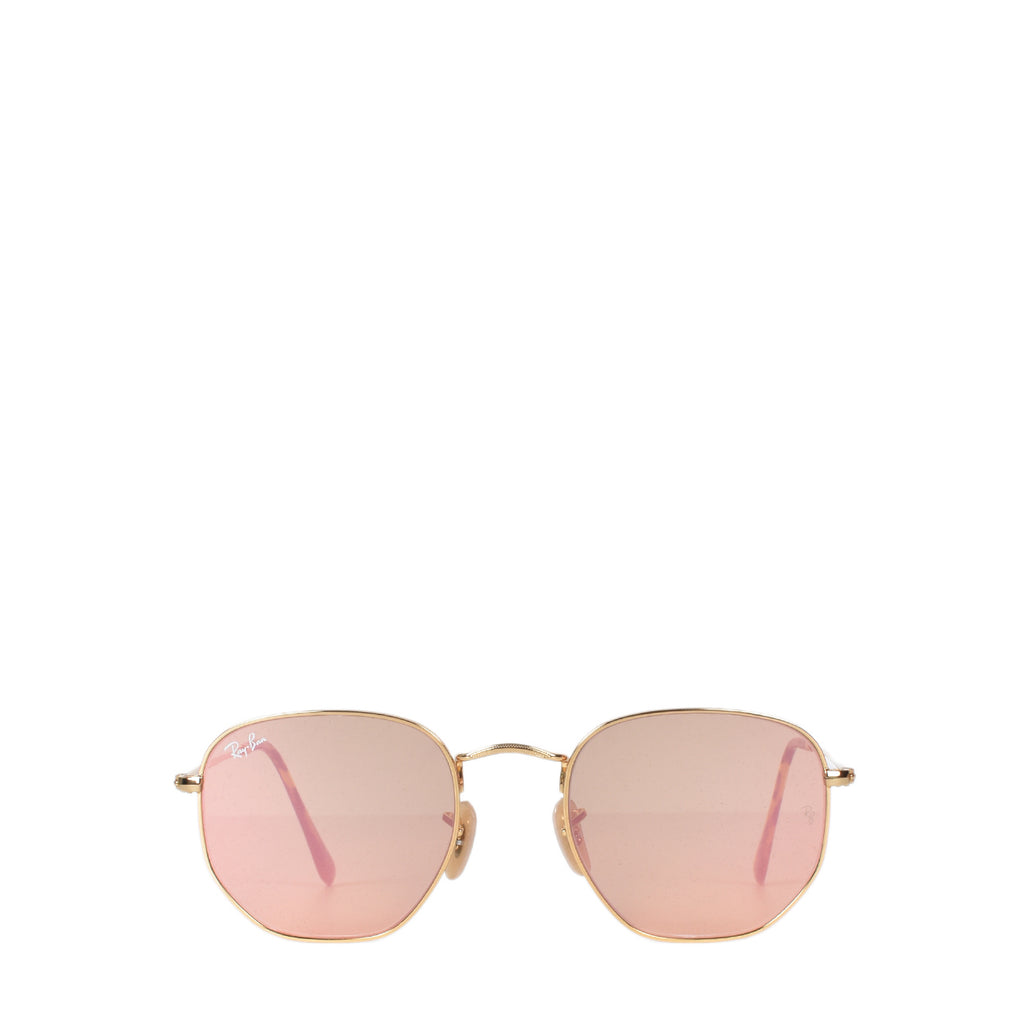 Ray-Ban RB3548-N 001/Z2 Hexagonal Metal Flat Lenses in Gold / Copper