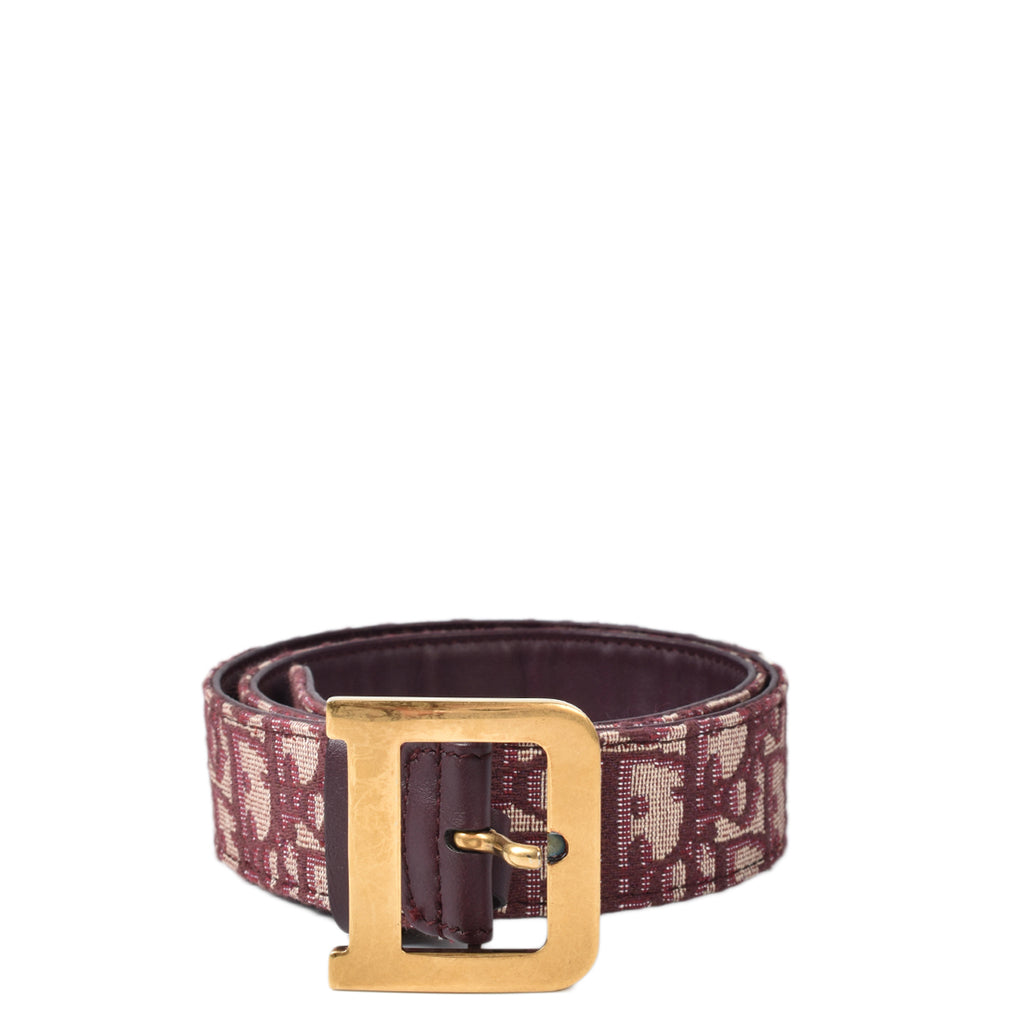 Dior Quake Belt Red Dior Oblique Jacquard