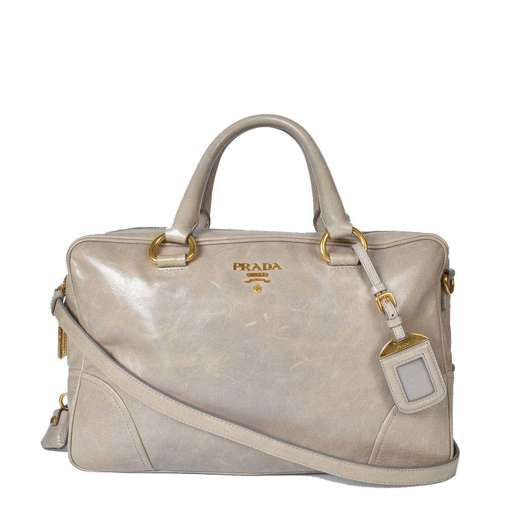 Prada Vitello Shine Bauletto Nube