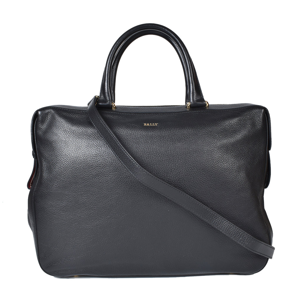 Bally Black Leather Business Bag