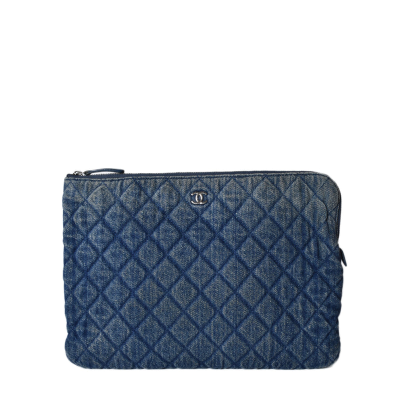 Chanel Denim O-Case Zip Pouch