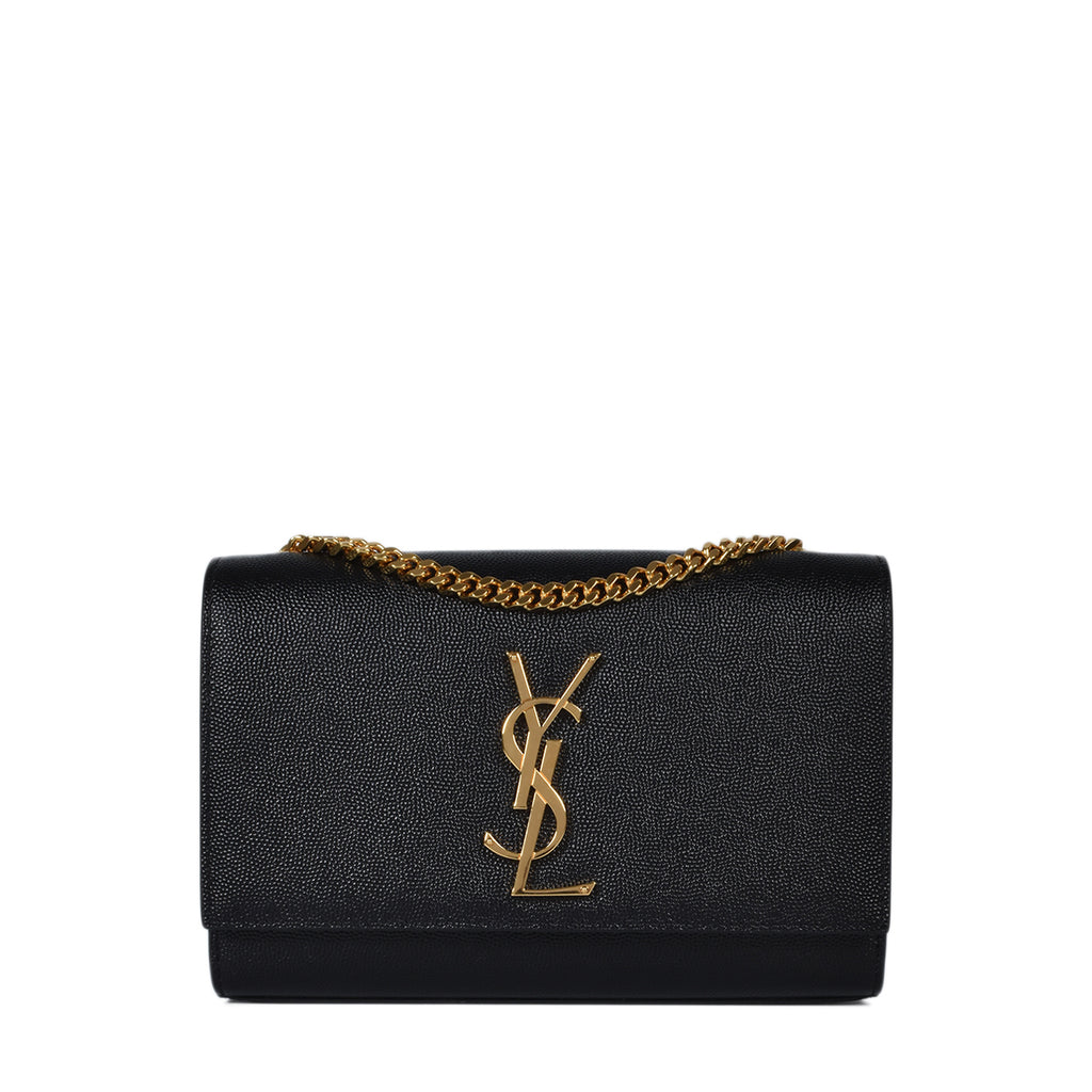 Yves Saint Laurent Black Pebbled Leather Small Kate Bag