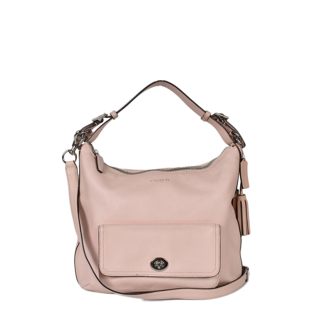 Coach Courtney Legacy Light Pink Leather Hobo Bag