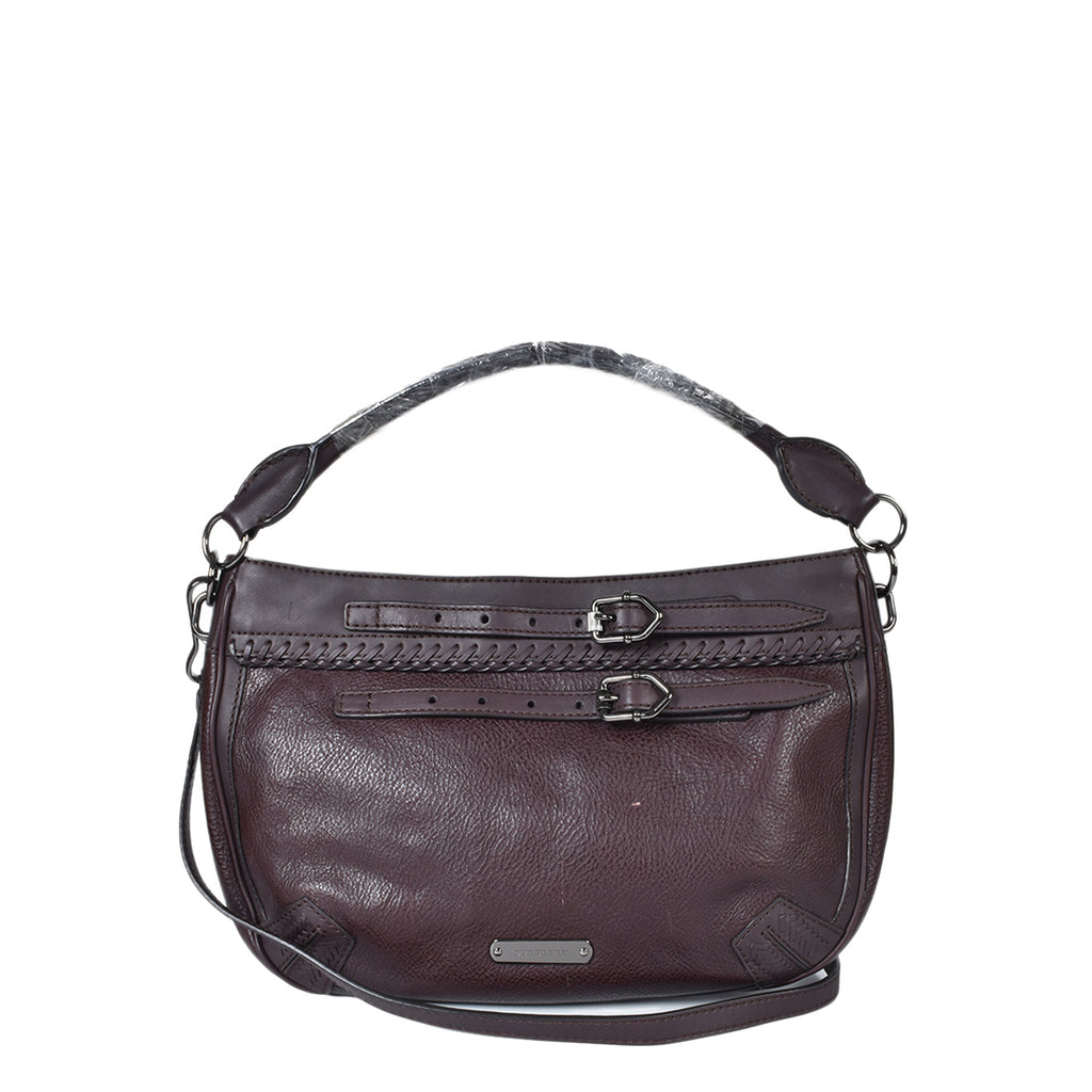 Burberry Dark Burgundy Calfskin Satchel