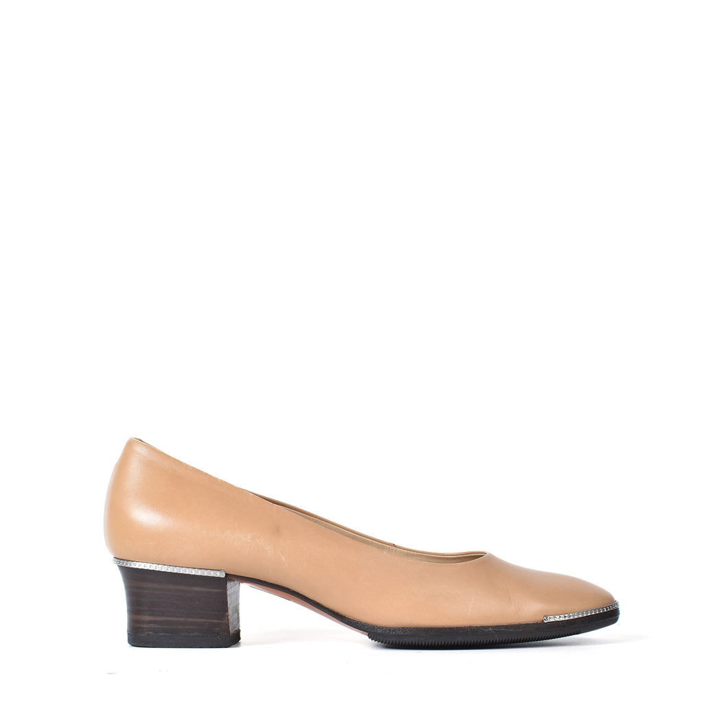 Bally 'The Arte' Vintage Beige Court Shoes