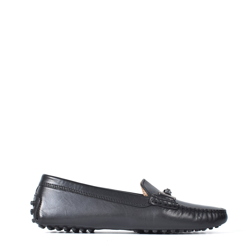 Tod's Women's Black Leather Loafers