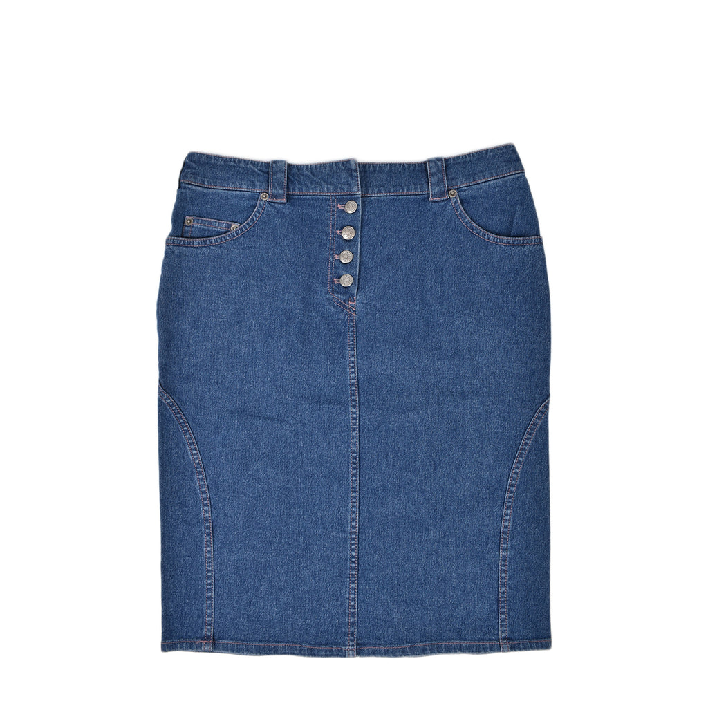Christian Dior Denim Midi Skirt