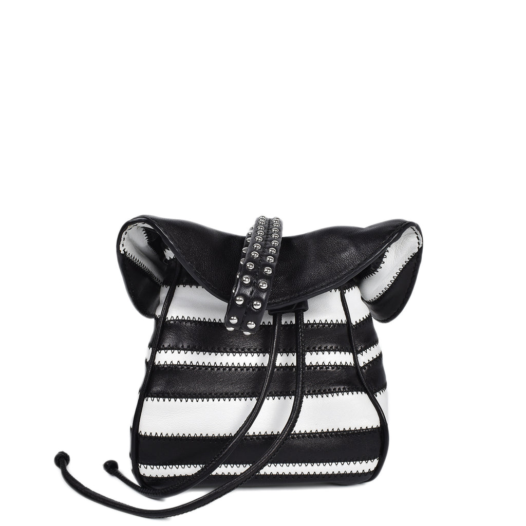 3.1 Phillip Lim Ray Mini Glove Pouch in Black and White