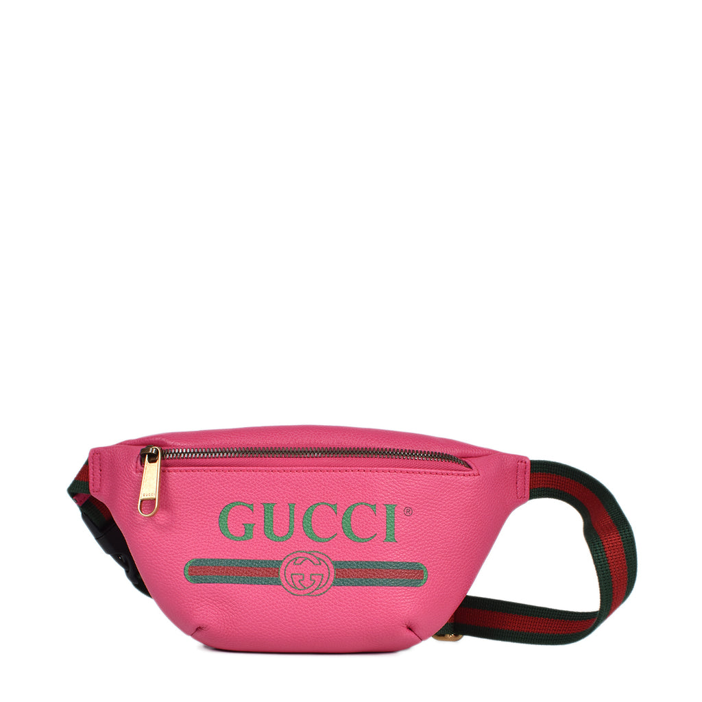 Gucci Print Small Belt Bag in Pink