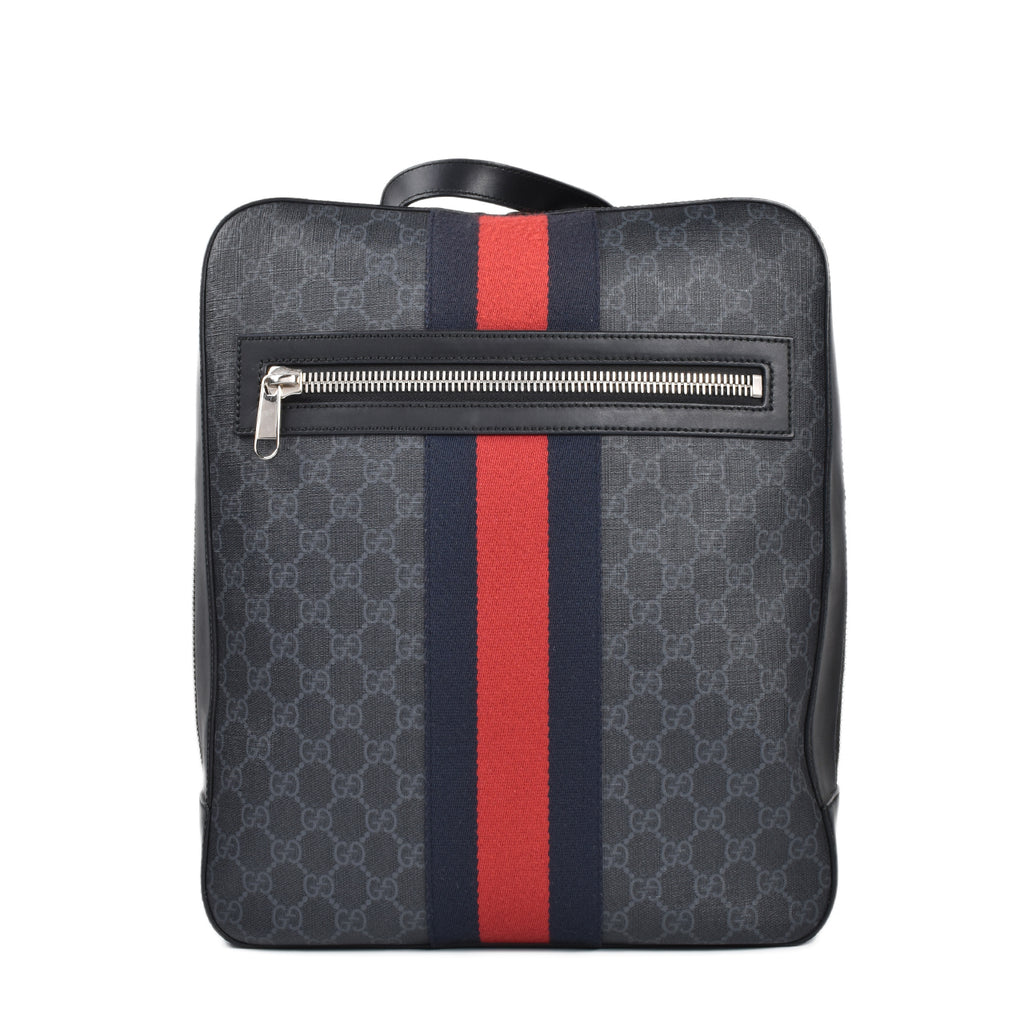 Gucci Black GG Supreme Canvas Backpack