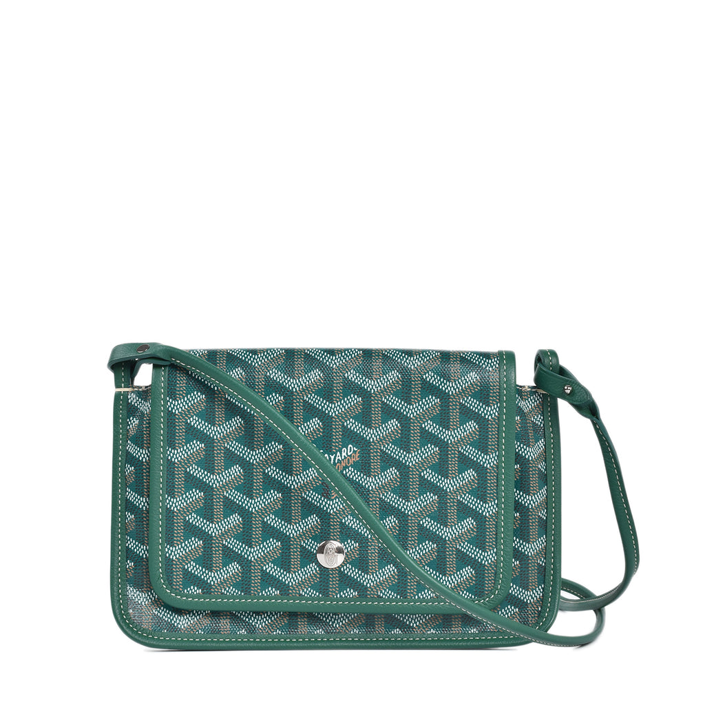 Goyard Plumet Wallet Clutch Goyardine in Green