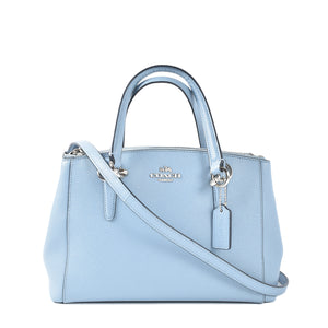 Coach Christie Carryall Mini Blue Leather Bag