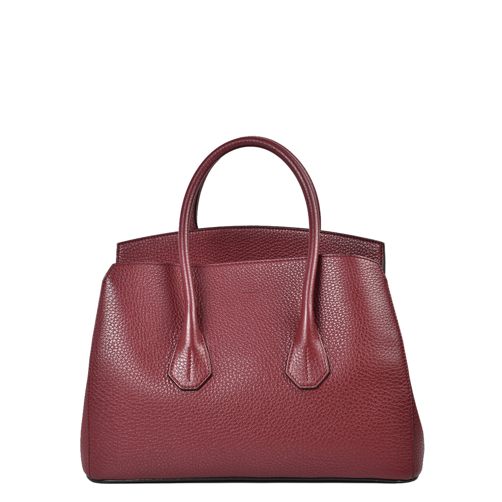 Bally Sommet Medium Red Leather Top Handle Bag
