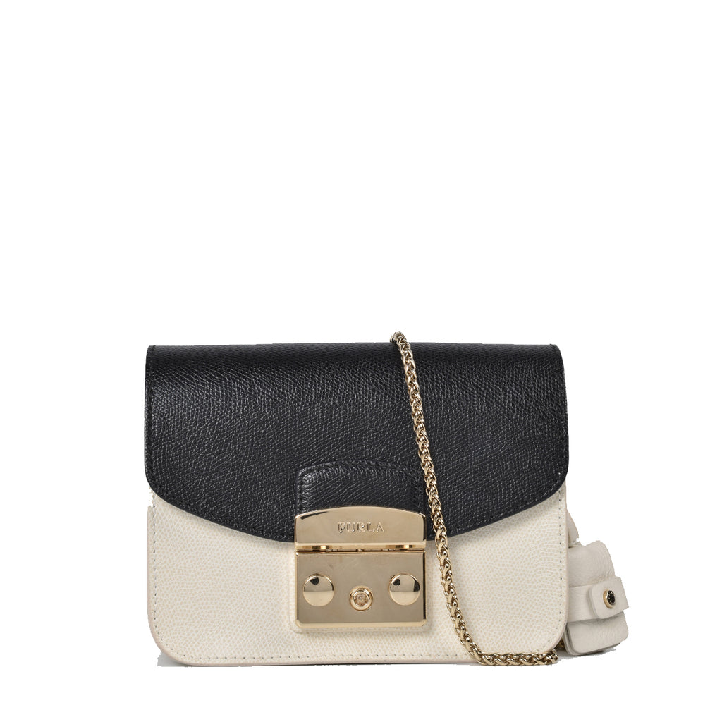 Furla My Play Furla White Mini Metropolis Crossbody