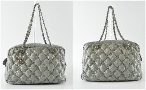 Paris-Byzance Gray Nylon Shoulder Bag