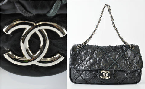 65a66a73c10e Chanel Black Quilted Calfskin Leather Ultra Stitch Jumbo Flap Bag - Glampot