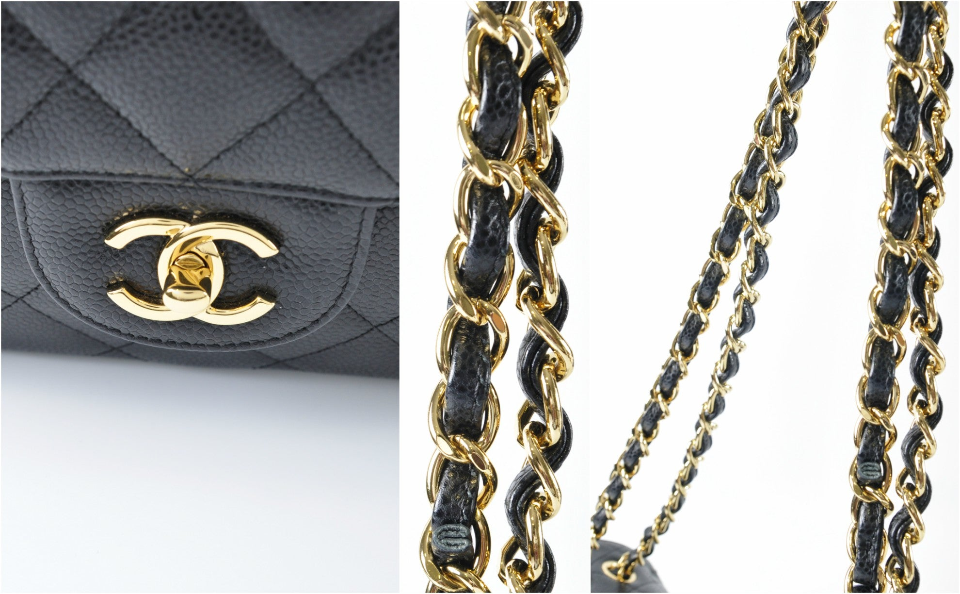 Jumbo Black Caviar / Gold Hardware